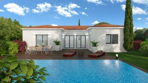 Maison à vendre : Cormoranche/Saone, maison haut de gamme de plain-pied de 116m carres avec garage, Maisons d'en France 01