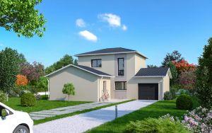 Maison à vendre : Emeringes, sur une parcelle de 450m carres maison à étage de 95m carres avec garage, Maisons d'en France 01