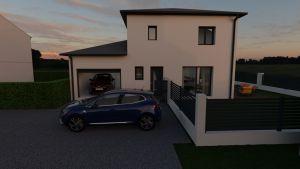 Maison à vendre : Hors lotissement: Mogneneins maison de 95m carres sur une parcelle de 430, Maisons d'en France 01