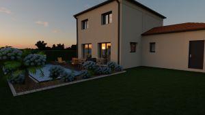 Maison à vendre : Julienas : projet de construction de 95m carres avec garage sur une parcelle de 650m carres, Maisons d'en France 01
