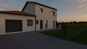 Maison à vendre : Monsols maison de 95m carres avec garage sur terrain de 1000m carres, Maisons d'en France 01