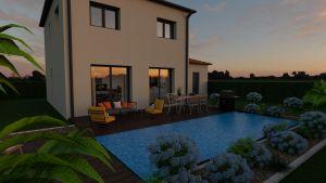 Maison à vendre : Saint Georges de Reneins, sur un terrain 700m carres, Construction d'une maison de 95m carres en étage, Maisons d'en France 01