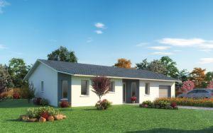 Maison à vendre : Villeneuve Maison de Plain pied de 90m carres sur un terrain de 530m carres, Maisons d'en France 01